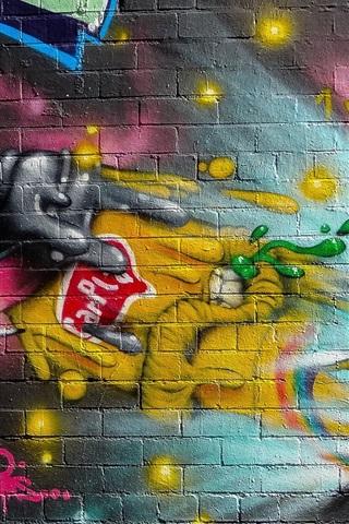 iPhone Wallpaper Painting, graffiti, wall, fantasy