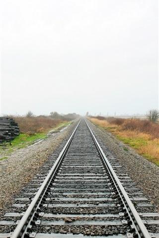 iPhone Wallpaper Railroad, track, grass