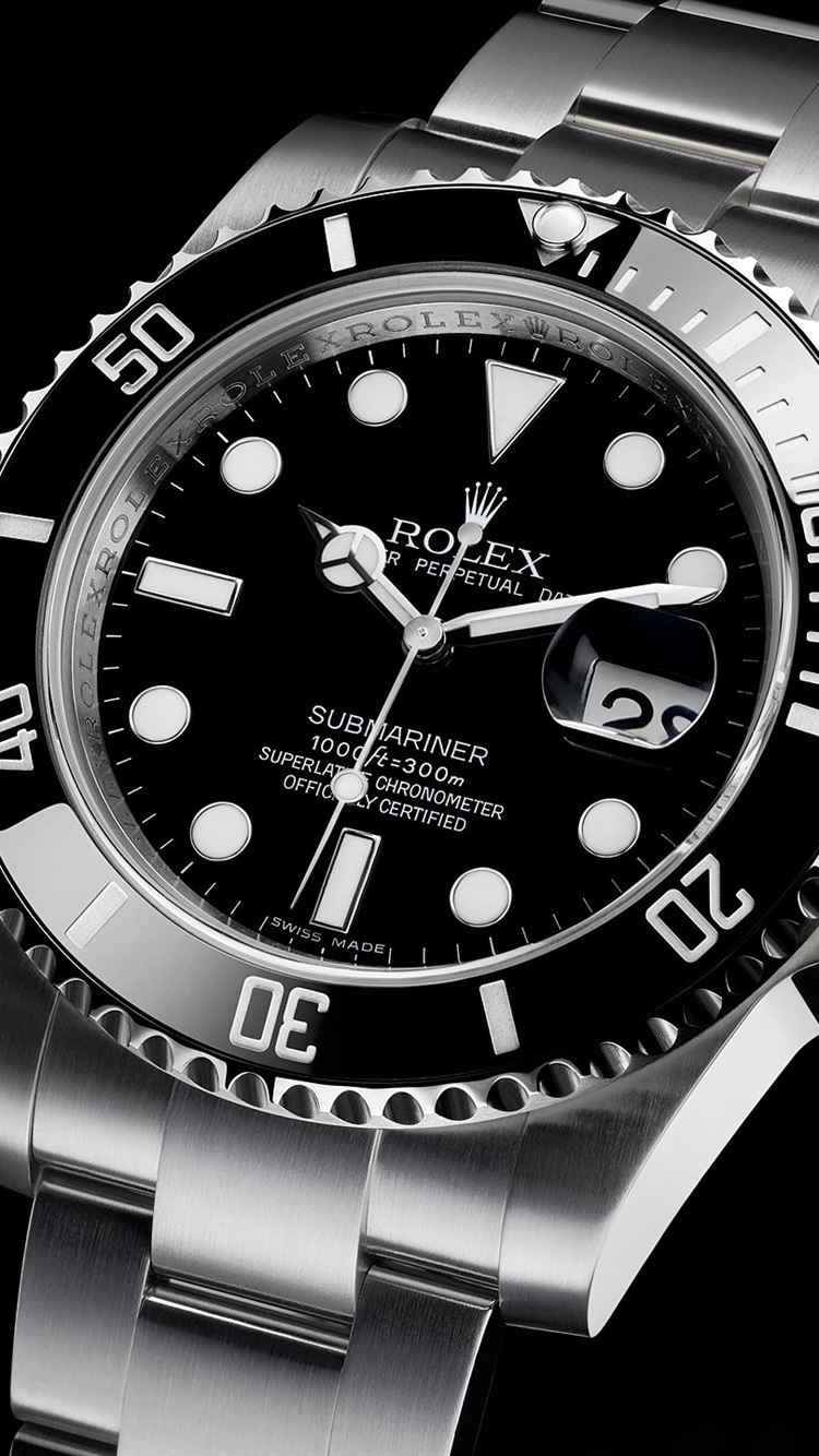 Rolex black watch 750x1334 iPhone 8/7/6