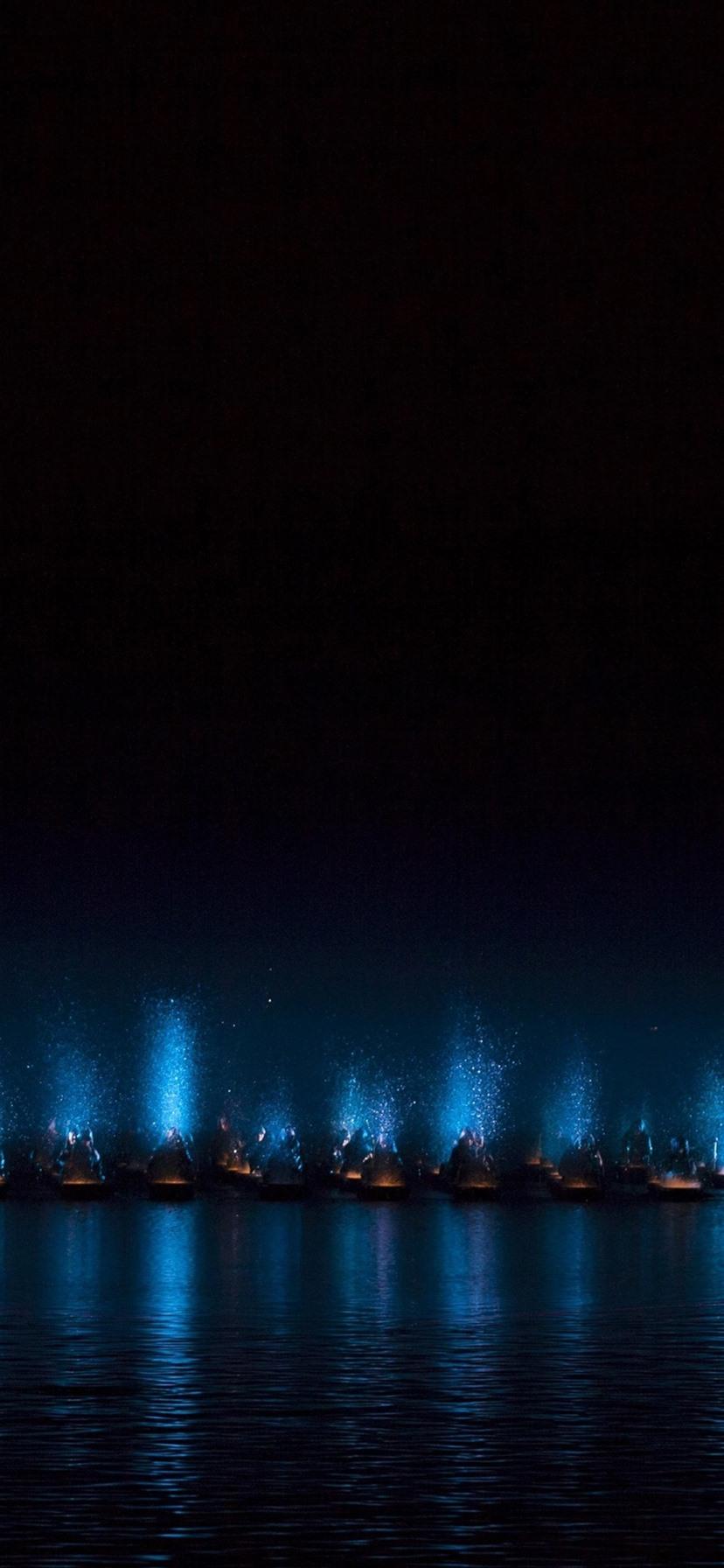海 夜 ボート ライト 1080x19 Iphone 8 7 6 6s Plus 壁紙 背景 画像