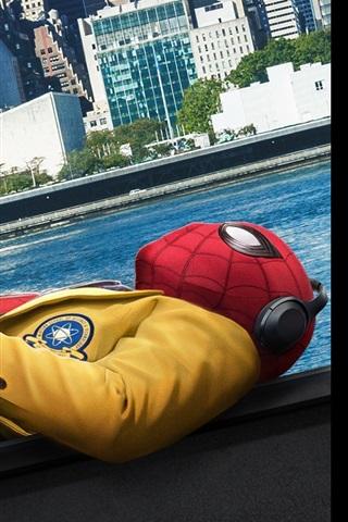 iPhone Hintergrundbilder Spider-Man Schlaf, Stadt