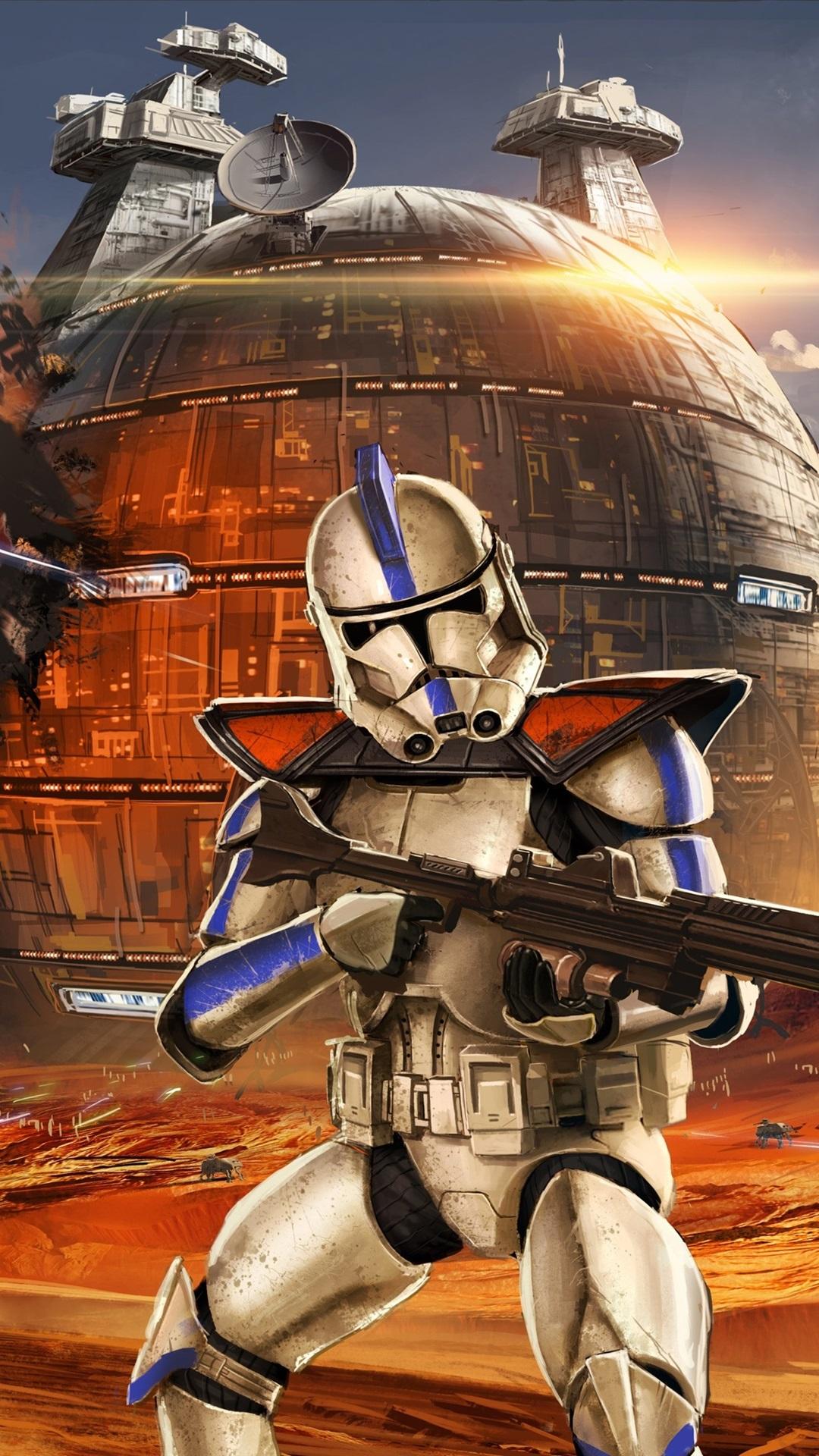 Star Wars soldiers battle art