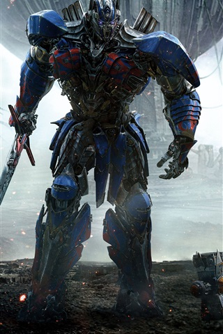 iPhone Hintergrundbilder Transformers 5, Optimus Prime und Bumblebee
