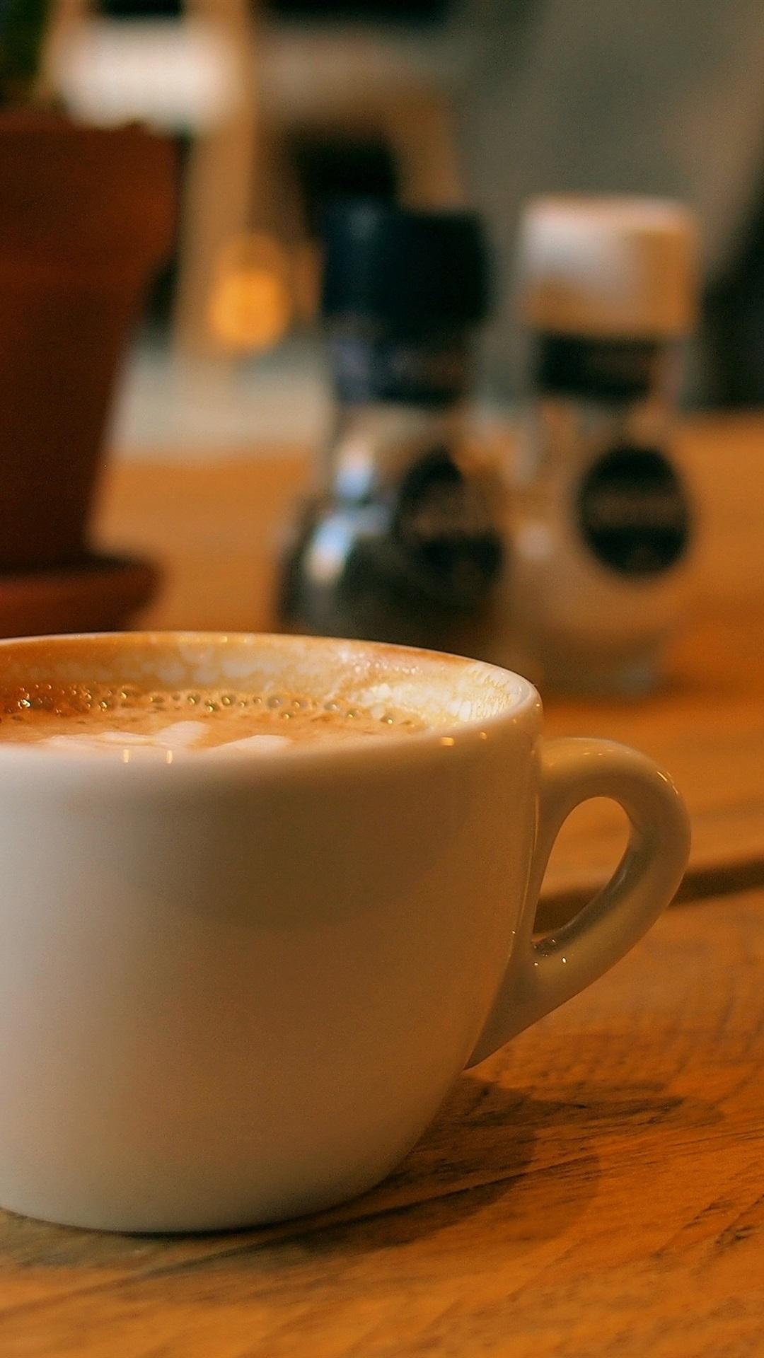 ホワイトカップコーヒー 1080x1920 Iphone 8 7 6 6s Plus 壁紙 背景 画像