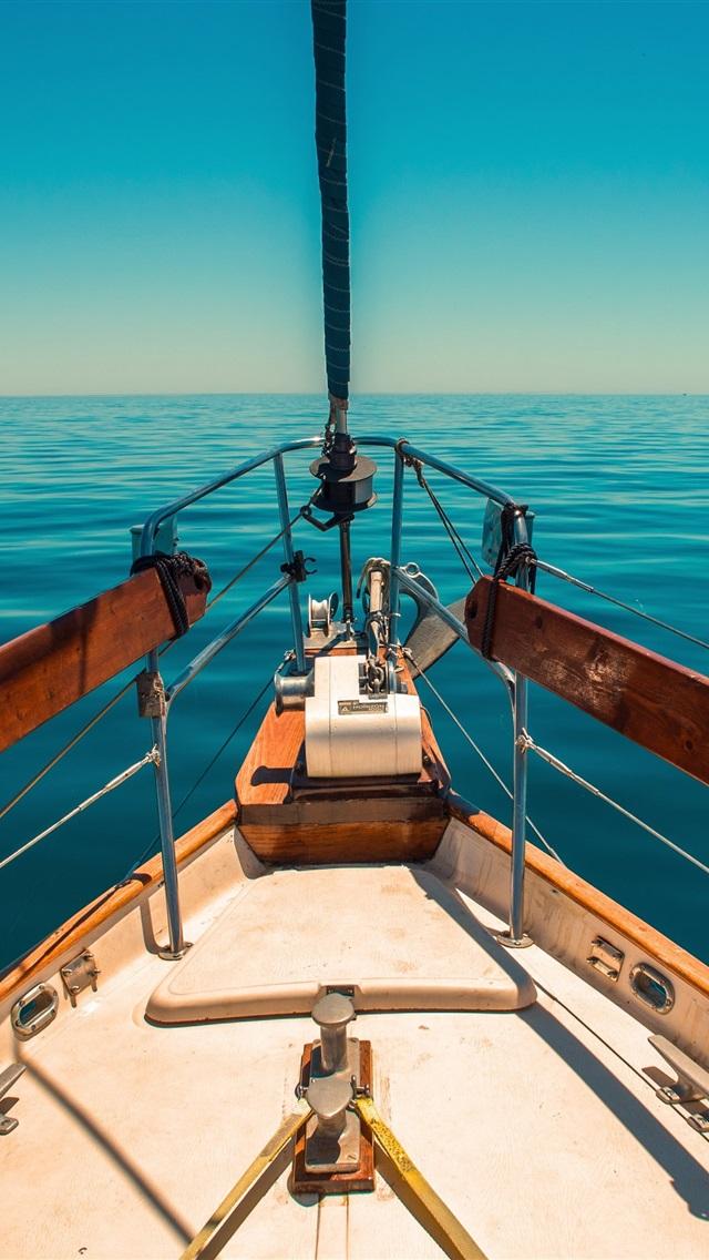 Wallpaper Yacht Blue Sea 3840x2160 Uhd 4k Picture Image