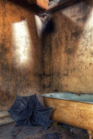 iPhone Wallpaper Bathroom, dust, HDR style
