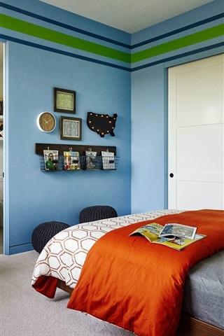 iPhone Wallpaper Bedroom, room, bed, simple style