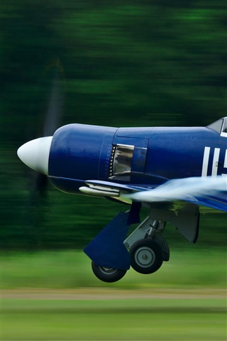 iPhone Wallpaper Blue aircraft flight
