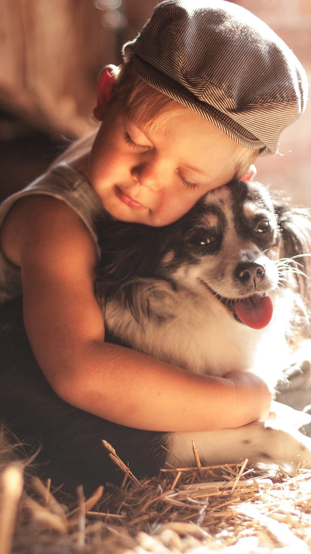 壁紙 子供と犬 友情 3840x2160 Uhd 4k 無料のデスクトップの背景 画像