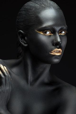 iPhone Wallpaper Fashion, art photography, black skin girl
