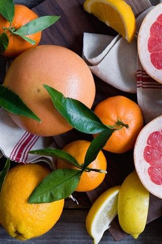 iPhone Wallpaper Fruit, still life, citrus, lemons, grapefruit