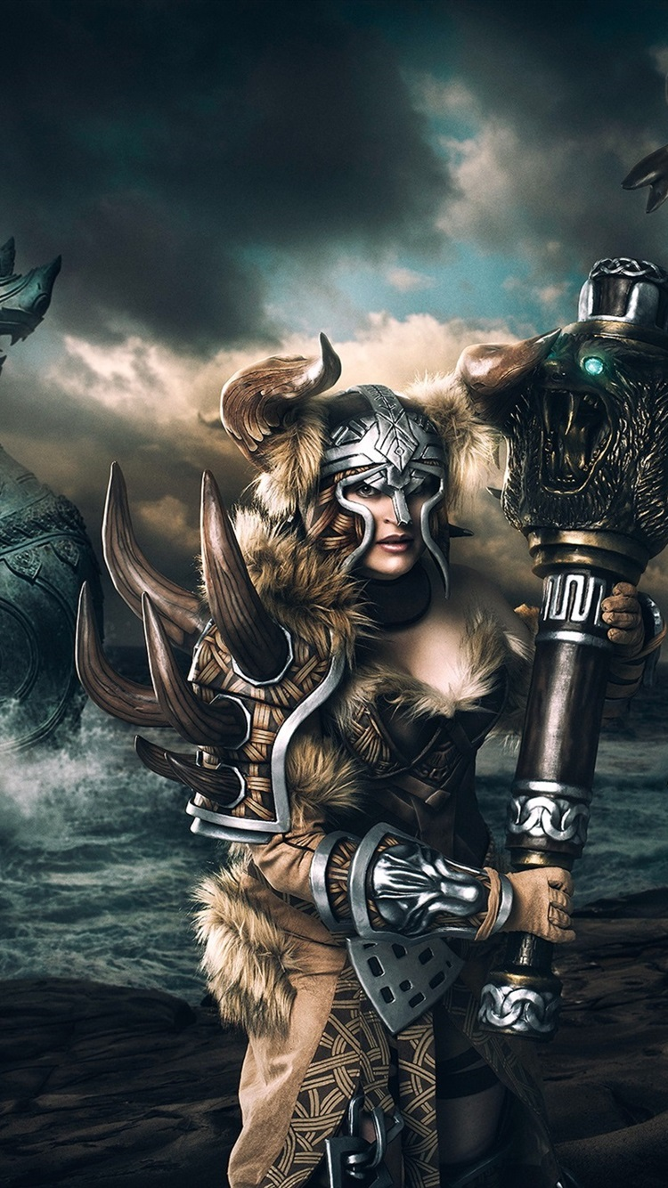 Guild Wars Vikings Art Picture 750x1334 Iphone 8766s