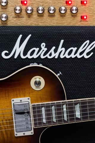 iPhone Wallpaper Guitar and amplifier