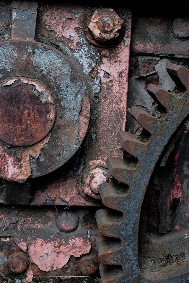 Industrial Machine Rust Gear 640x1136 Iphone 5 5s 5c Se