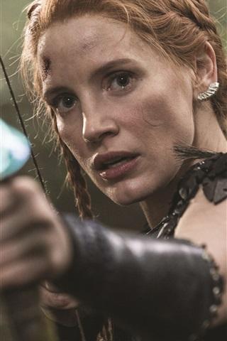 iPhone Hintergrundbilder Jessica Chastain, Der Jäger: Winterkrieg