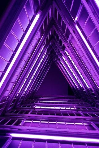 iPhone Wallpaper Ladder, purple lights