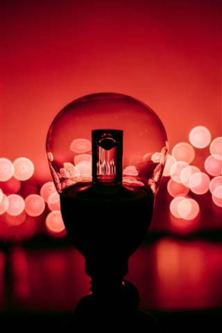 iPhone Wallpaper Lamp, red background