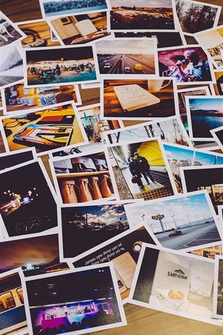 iPhone Wallpaper Many photos on floor
