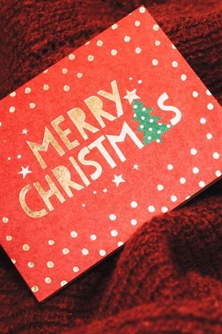 iPhone Papéis de Parede Cartão de Feliz Natal, caixa de presente, brilho