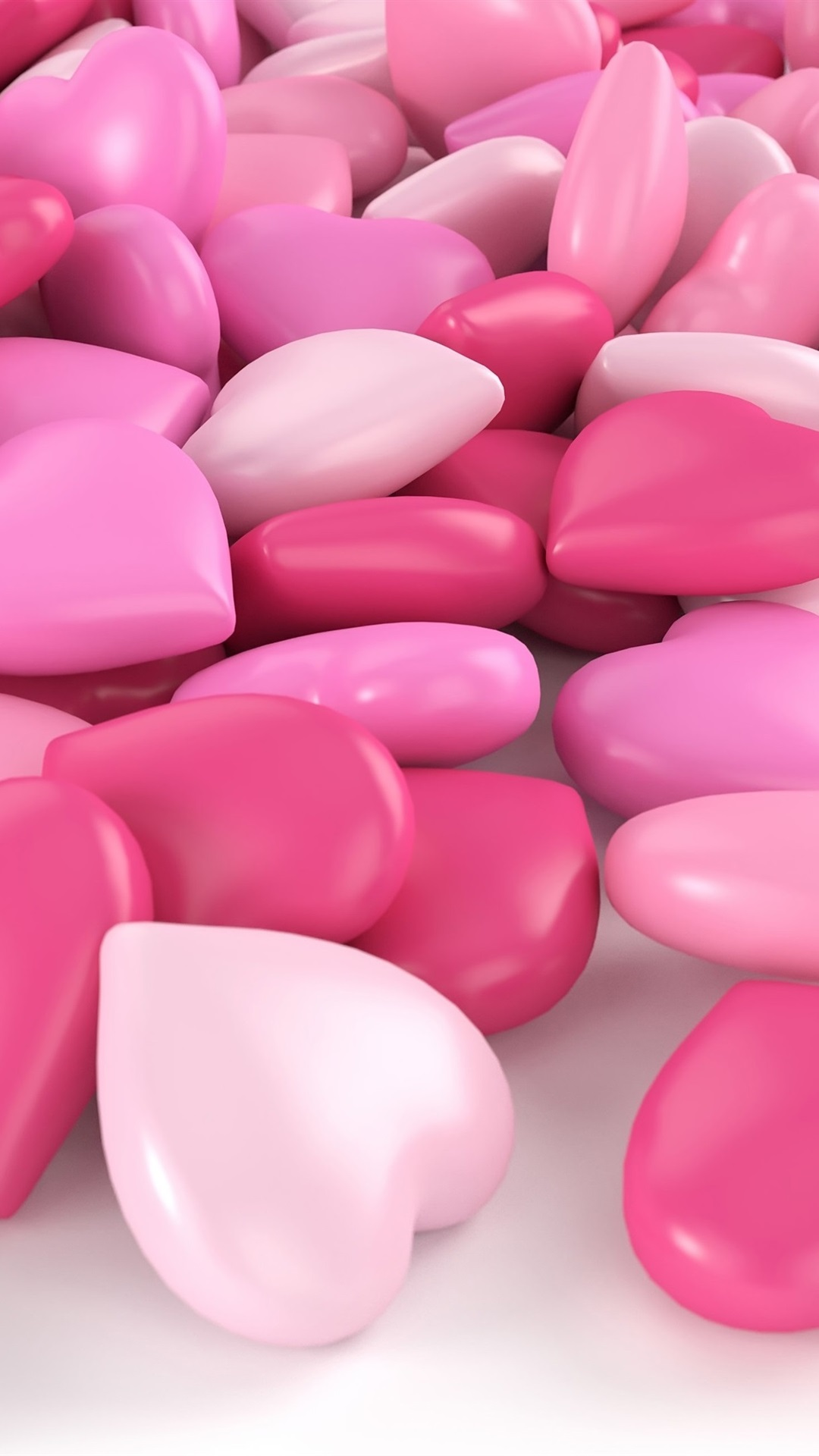 Pink Love Heart Candy 1080x1920 Iphone 8 7 6 6s Plus Wallpaper Background Picture Image