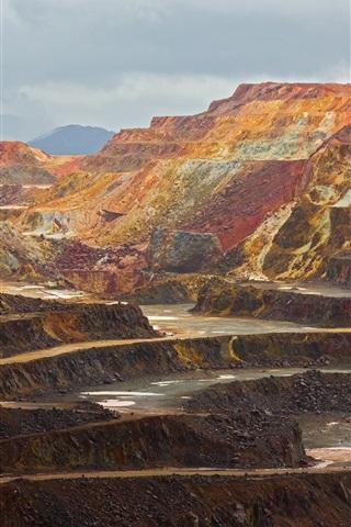 iPhone Wallpaper Roads, mining, rocks