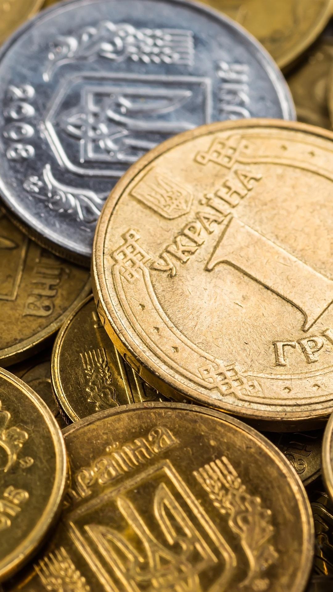 ウクライナのコイン お金 1080x1920 Iphone 8 7 6 6s Plus 壁紙 背景