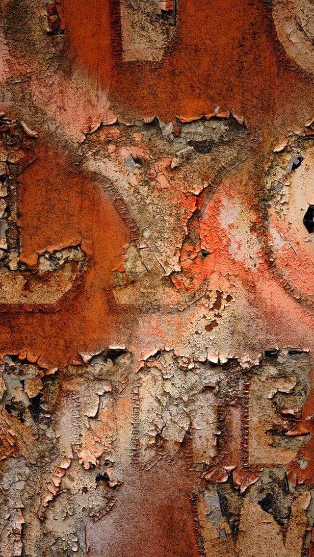 Wall Texture Peeling 640x1136 Iphone 5 5s 5c Se Wallpaper