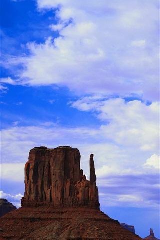 iPhone Papéis de Parede América, montanhas, pedras, nuvens