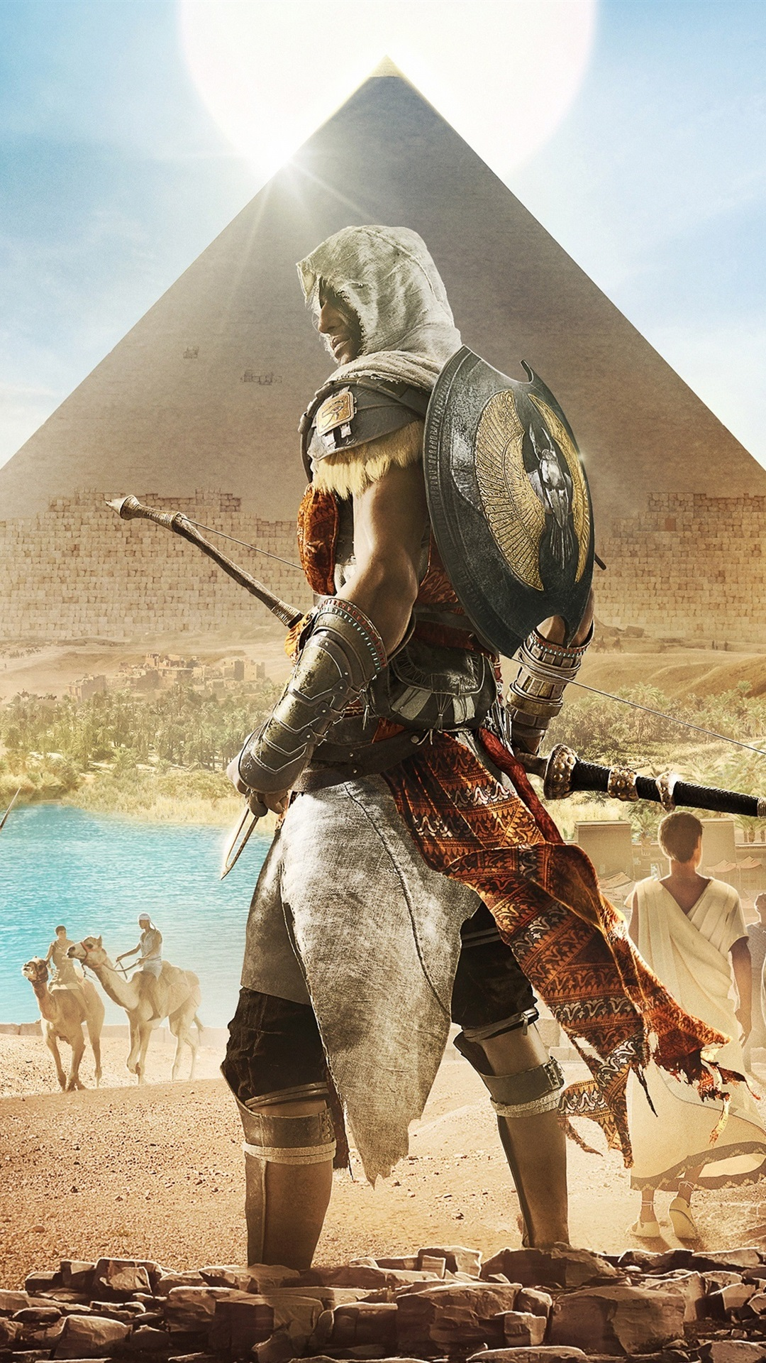 Assassin S Creed Origins Egypt Pyramid 1080x1920 Iphone 8 7 6 6s Plus Wallpaper Background Picture Image