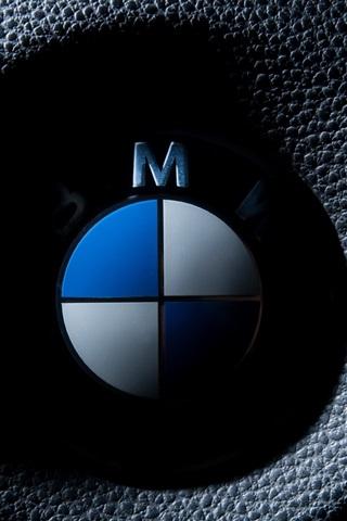 iPhone Wallpaper BMW logo macro photography