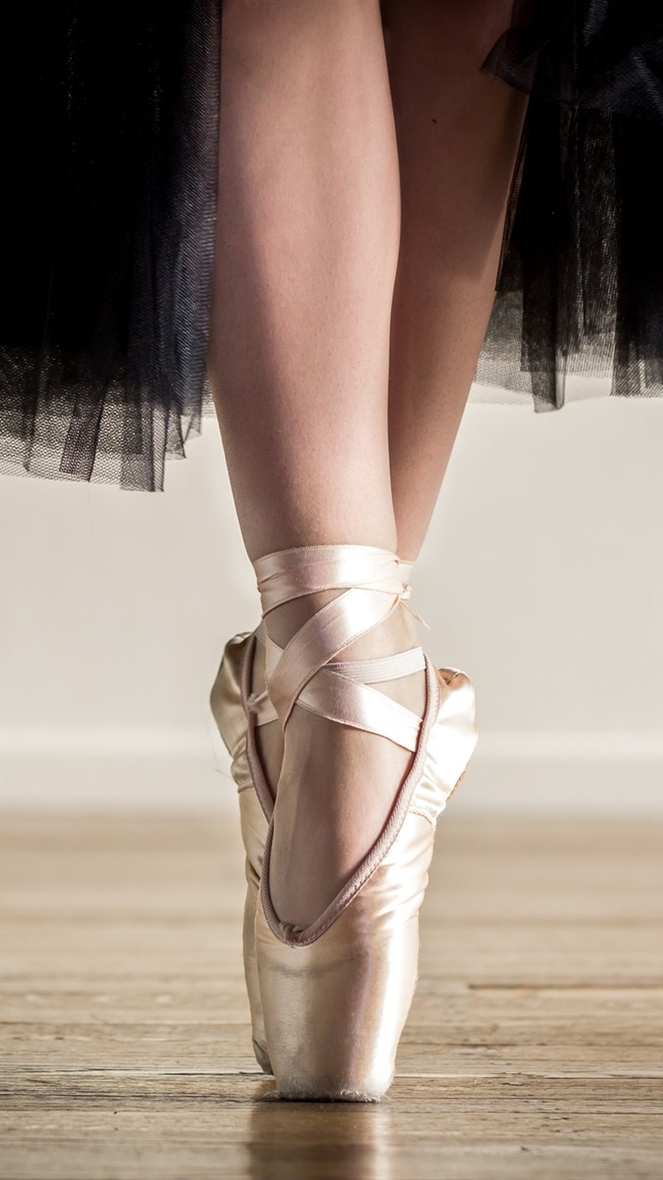 Ballerina Black Skirt Shoes Feet Dancing 750x1334 Iphone 8 7 6 6s Wallpaper Background Picture Image