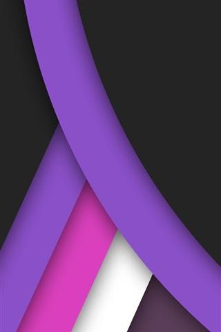 iPhone Papéis de Parede Curva de fundo preto, roxo e rosa