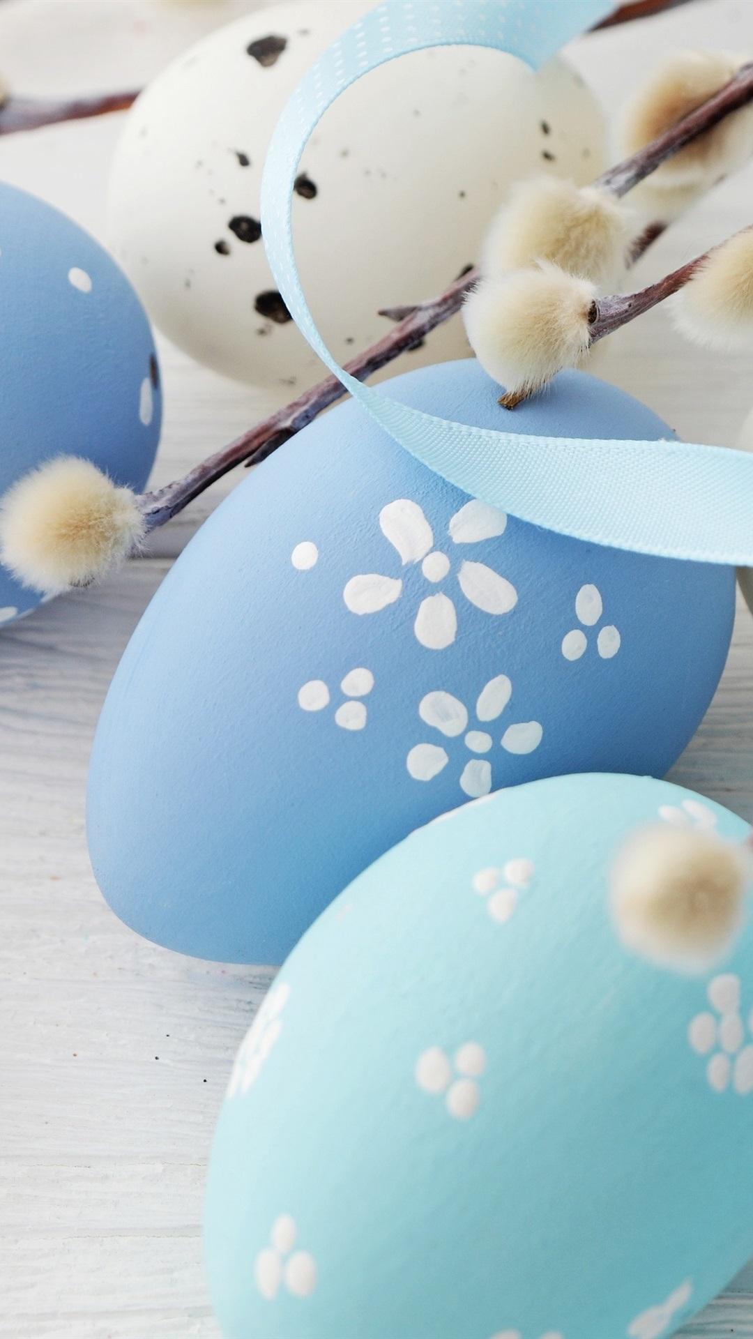 Blaue Eier Fröhliche Ostern 1080x1920 Iphone 8766s Plus