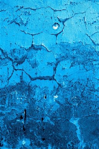 iPhone Wallpaper Blue wall, texture