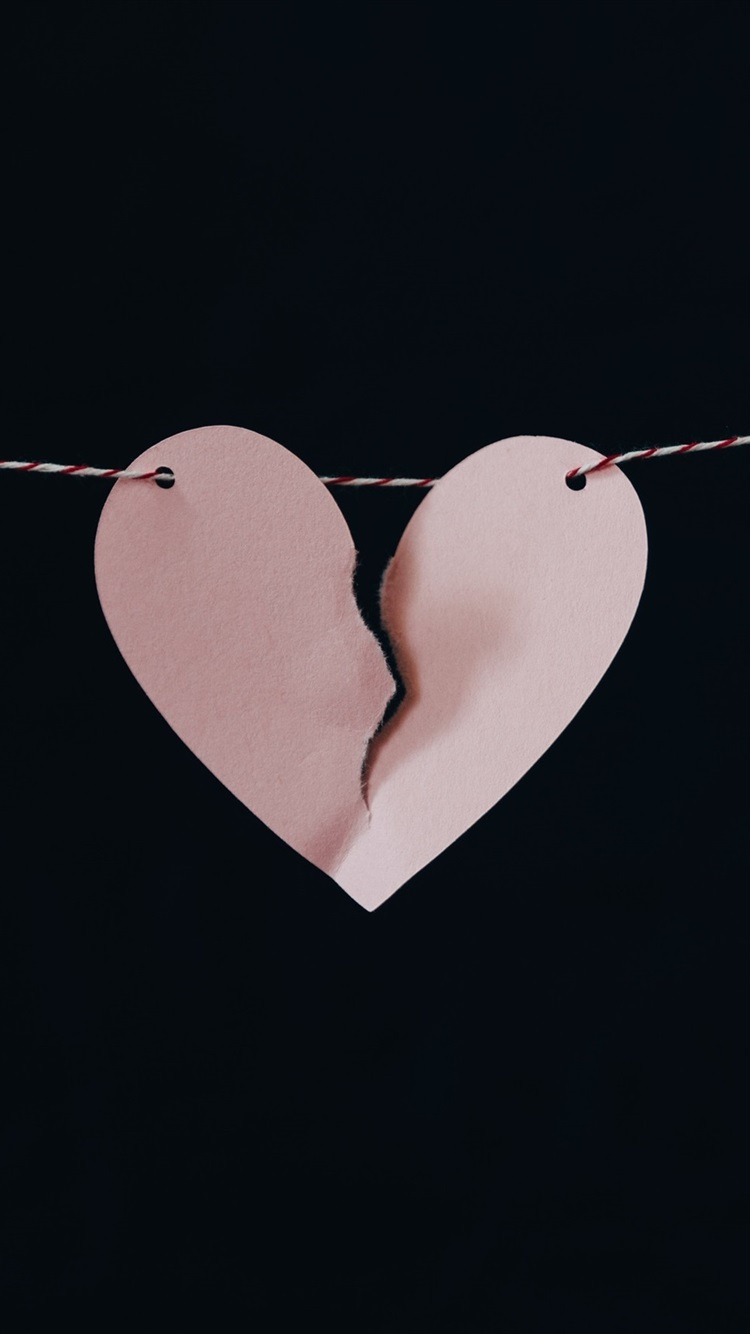 Broken Love Heart Paper Rope Night 750x1334 Iphone 8 7 6