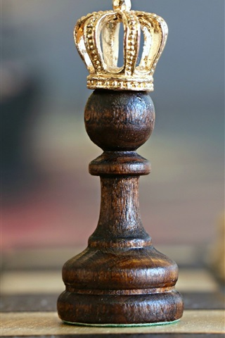 iPhone Wallpaper Chess, crown