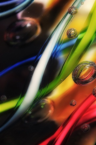 iPhone Wallpaper Colorful background, abstract, bubbles
