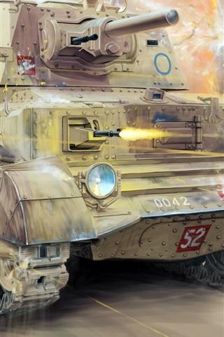 iPhone Wallpaper Cruiser Mk.II tank, British