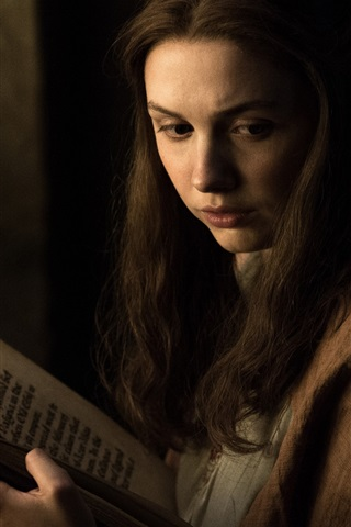 iPhone Wallpaper Game of Thrones, girl read book