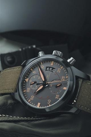 iPhone Wallpaper IWC black watch