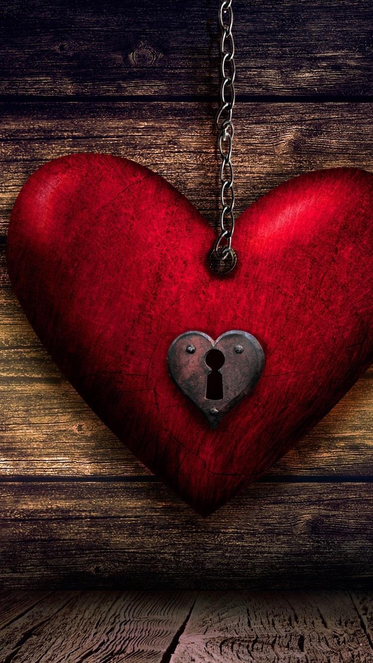 Wallpaper love heart lock key wood board 3840x2160 uhd - Best heart wallpaper hd ...