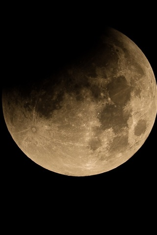 iPhone Wallpaper Moon, satellite, black space