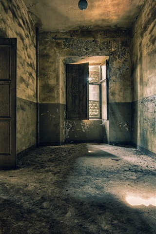 iPhone Wallpaper Room, doors, ruins