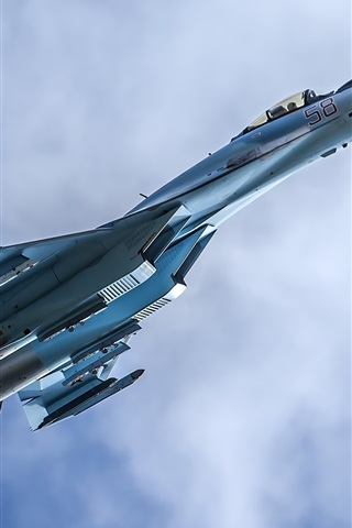 iPhone Wallpaper Su-35 multipurpose fighter