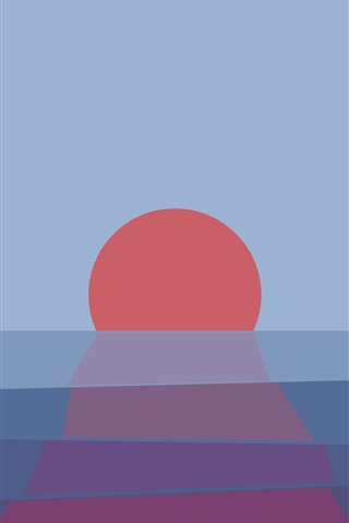 iPhone Wallpaper Sunset, sea, abstract picture