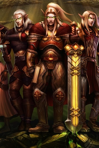 iPhone Wallpaper World of Warcraft, elf, art picture