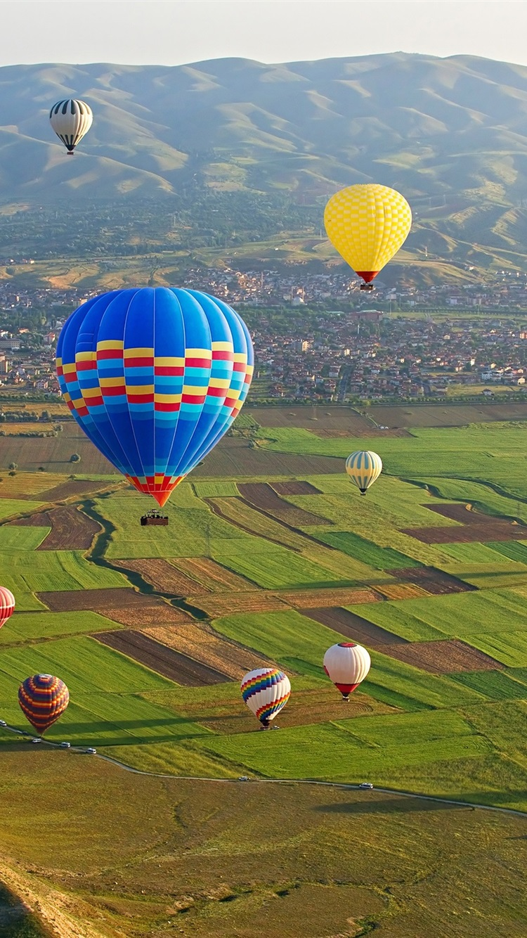 Cappadocia Goreme National Park Turkey Colorful Hot Air Balloons 750x1334 Iphone 8 7 6 6s Wallpaper Background Picture Image