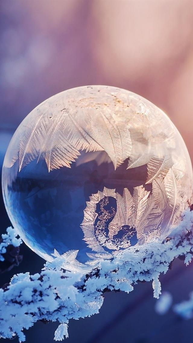 Crystal Ball Snow Frost Glare 640x1136 Iphone 55s5cse