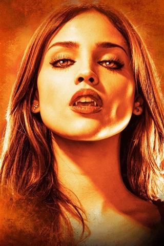 iPhone Wallpaper Eiza Gonzalez, vampire, From Dusk Till Dawn, TV series