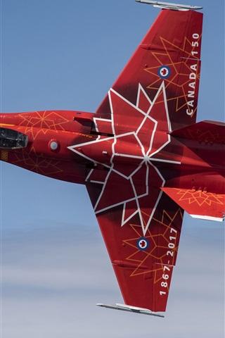 iPhone Wallpaper Hornet CF-18 fighter flight